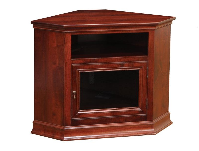Breckenridge #28 Corner Tv Stand – Ohio Hardwood Furniture In Most Recently Released Small Corner Tv Cabinets (Image 11 of 20)