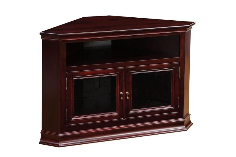 Breckenridge #32 Corner Tv Stand - Ohio Hardword & Upholstered throughout Most Popular Wood Corner Tv Cabinets
