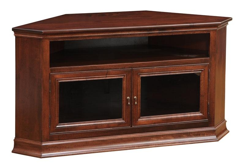 Breckenridge #40 Corner Tv Stand – Ohio Hardword & Upholstered Throughout 2017 Corner Tv Tables Stands (Image 14 of 20)