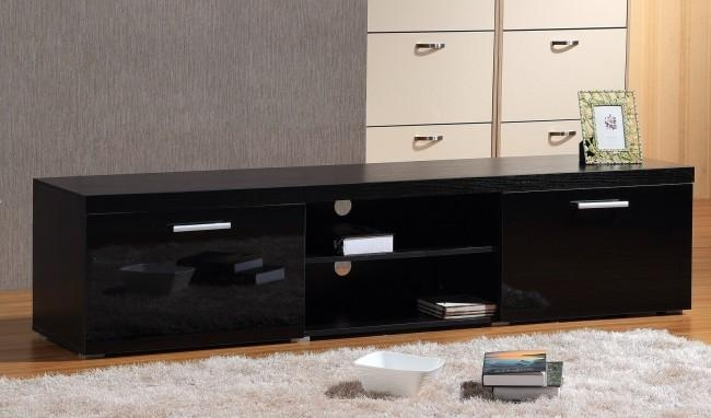 Brilliant Large Black Tv Stand Brand New Modern Large 2M Tv Stand With Regard To 2017 Large Black Tv Unit (Image 7 of 20)