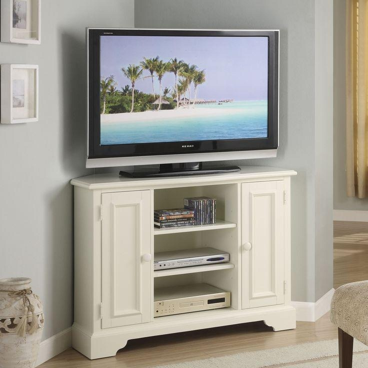 Brilliant White Corner Tv Stands For Flat Screens Tv Stands Inside 2017 White Wood Corner Tv Stands (Image 14 of 20)