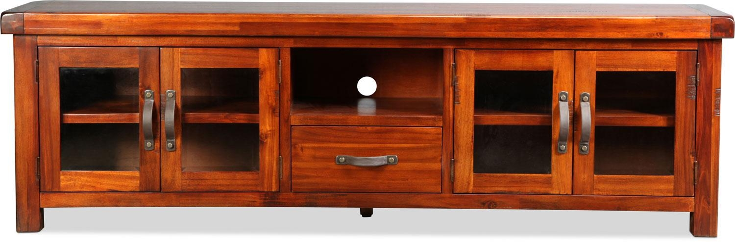 "Brisbane 84"" Tv Stand – Distressed Chestnut 