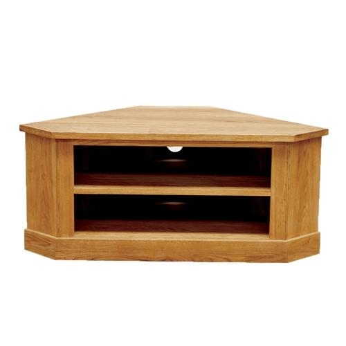 Brooklyn Contemporary Oak Low Corner Tv Cabinet With Most Up To Date Low Corner Tv Cabinets (View 1 of 20)