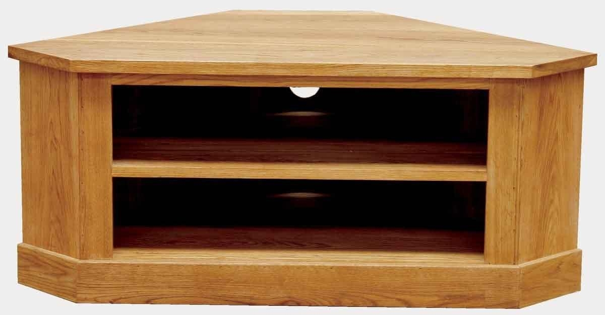 Brooklyn Oak Low Corner Tv Unit Designer Furniture Ltd Intended For Most Recently Released Low Corner Tv Cabinets (Image 9 of 20)