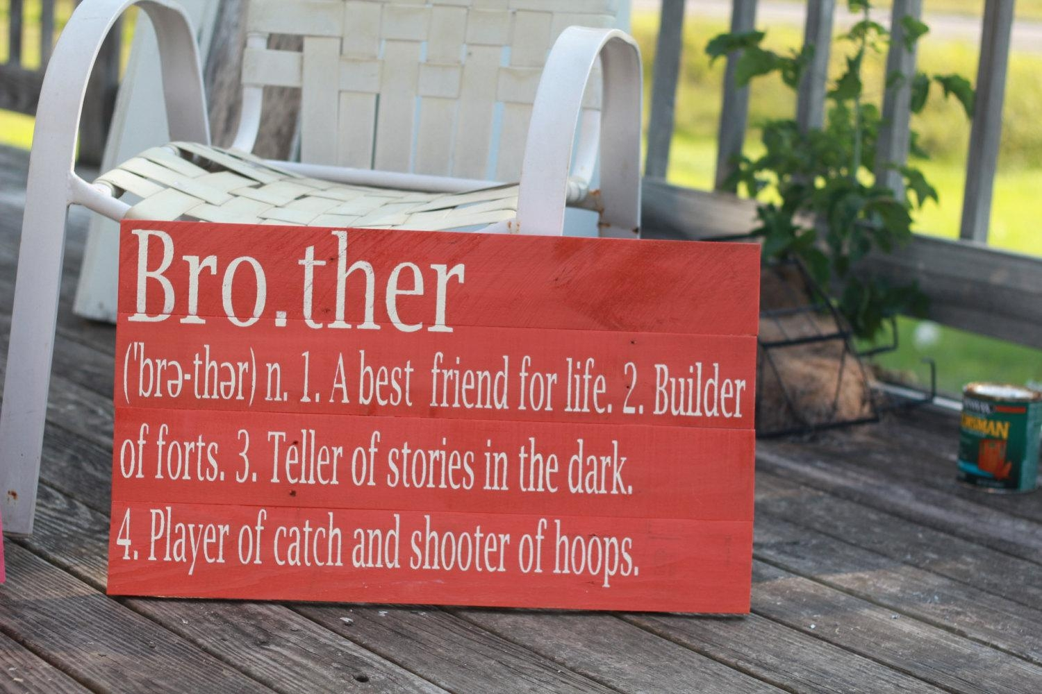 Brother Definition Sign, Reclaimed Wood Sign, Siblings Sign With Brother Definition Wall Art (Image 14 of 20)