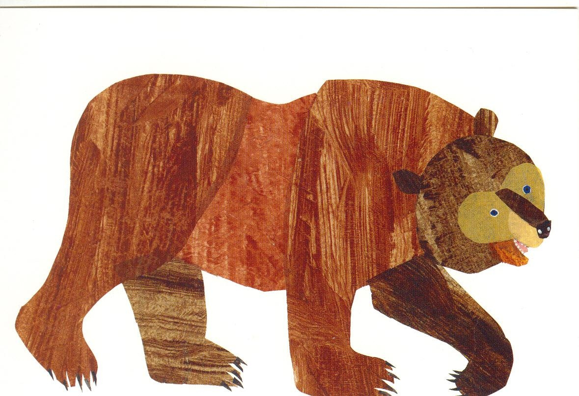 Brown Bear Postcard | The Eric Carle Museum Of Picture Book Art With Eric Carle Wall Art (Image 2 of 20)