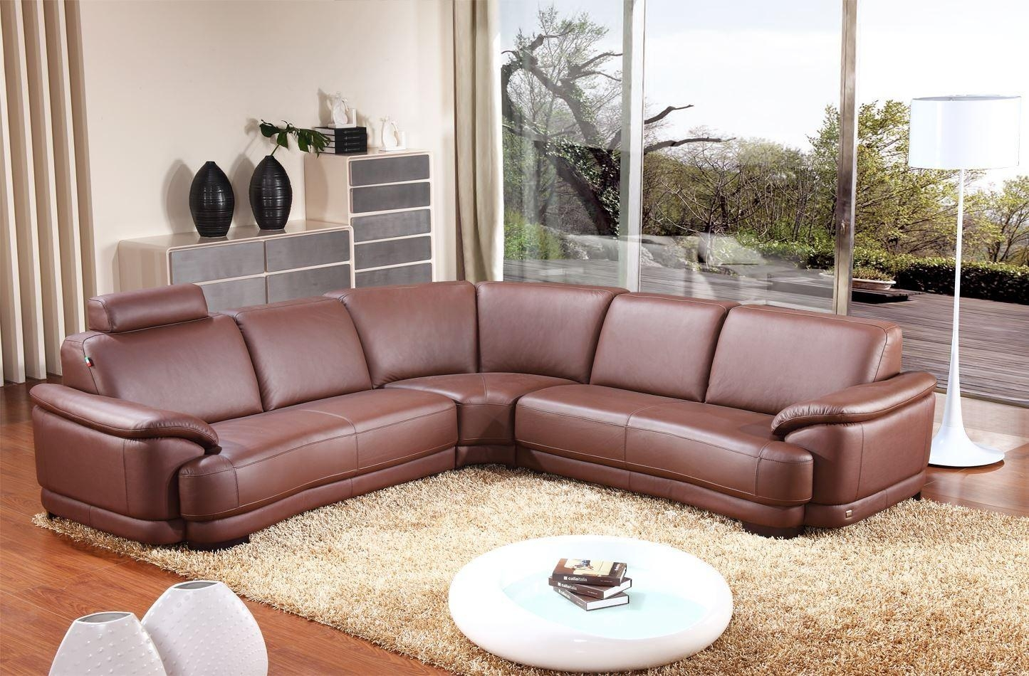 Brown Leather Corner Sofa Small Leather Corner Sofa Uk In Small Brown Leather Corner Sofas (Image 2 of 21)