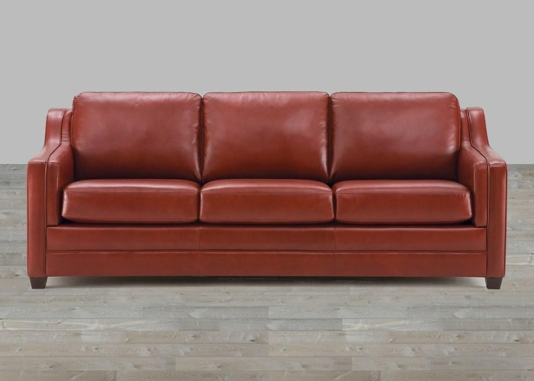 Brown Top Grain Leather Sofa In Leather Sofas (Image 4 of 21)
