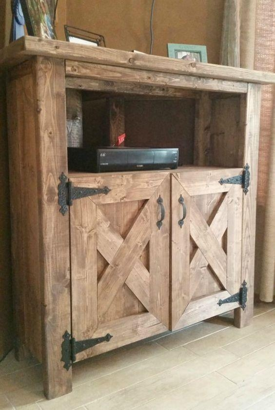 Build A Tv Stand Or Media Console With These Free Plans | Tv Inside Most Popular Rustic Corner Tv Stands (Image 4 of 20)