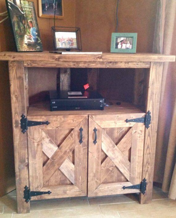 Build A Tv Stand Or Media Console With These Free Plans | Tv With Most Recent Rustic Corner Tv Stands (View 12 of 20)