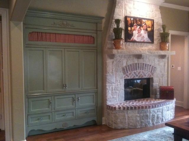 Built In French Country – Traditional – Entertainment Centers And Regarding Most Recent French Country Tv Cabinets (Image 6 of 20)