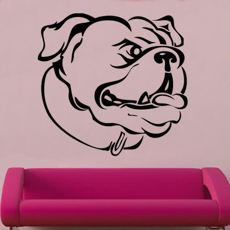 Bulldog Sideon Vinyl Wall Art | Shop For Dog Sayings Wall Art (Image 4 of 20)