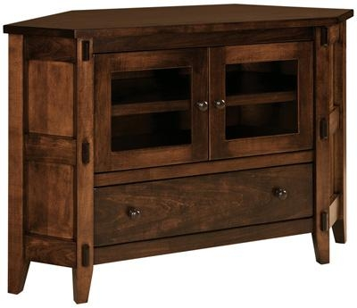 Bungalow Small Corner Tv Stand|Custom Amish Bungalow Small Corner Throughout Most Recently Released Rustic Corner Tv Stands (Image 6 of 20)