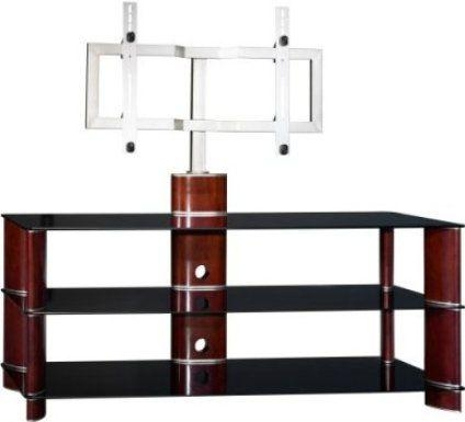 Bush Vs11550A 03 Segments Swivel Plasma Tv Stand With Mounting In Best And Newest Tv Stands Swivel Mount (Image 6 of 20)