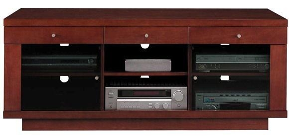 Bush Vs13588 03 Cognac Maple Finish Edgewood Collection Flat Panel Intended For Most Recent Maple Tv Stands For Flat Screens (Image 3 of 20)