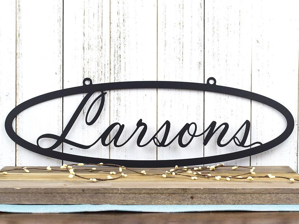 Buy A Hand Crafted Custom Metal Sign | Name Sign | Last Name Sign For Custom Last Name Wall Art (Image 4 of 20)