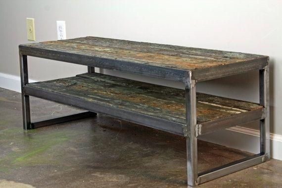 Buy A Hand Crafted Reclaimed Wood Tv Stand. Minimalist Media with Most Popular Reclaimed Wood and Metal Tv Stands