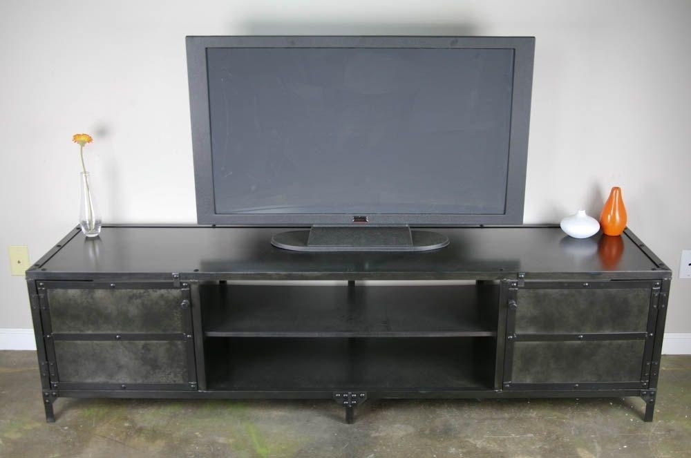 Buy A Handmade Vintage Industrial Media Console, Tv Stand With Regard To Most Up To Date Industrial Tv Stands (View 11 of 20)