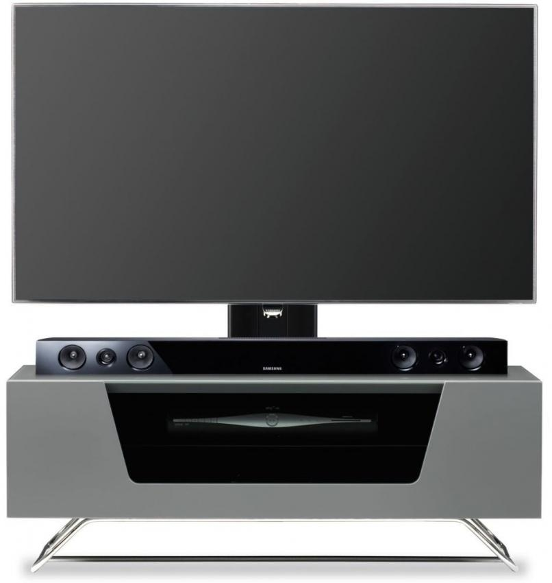 Buy Alphason Chromium 2 Grey Cantilever Tv Cabinet – Cro2 1000Bkt Regarding Current Cantilever Tv (Image 3 of 20)
