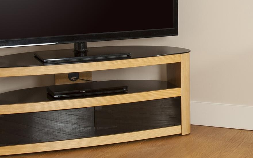 Buy Avf Burghley Tv Stand | Free Delivery | Currys Pertaining To Most Recently Released Glass And Oak Tv Stands (View 7 of 20)