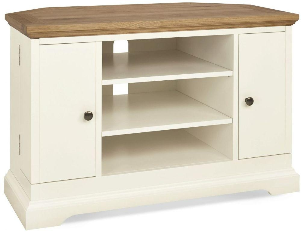 Buy Bentley Designs Provence Two Tone Tv Unit – Corner Online – Cfs Uk Pertaining To Recent Painted Corner Tv Cabinets (Image 3 of 20)