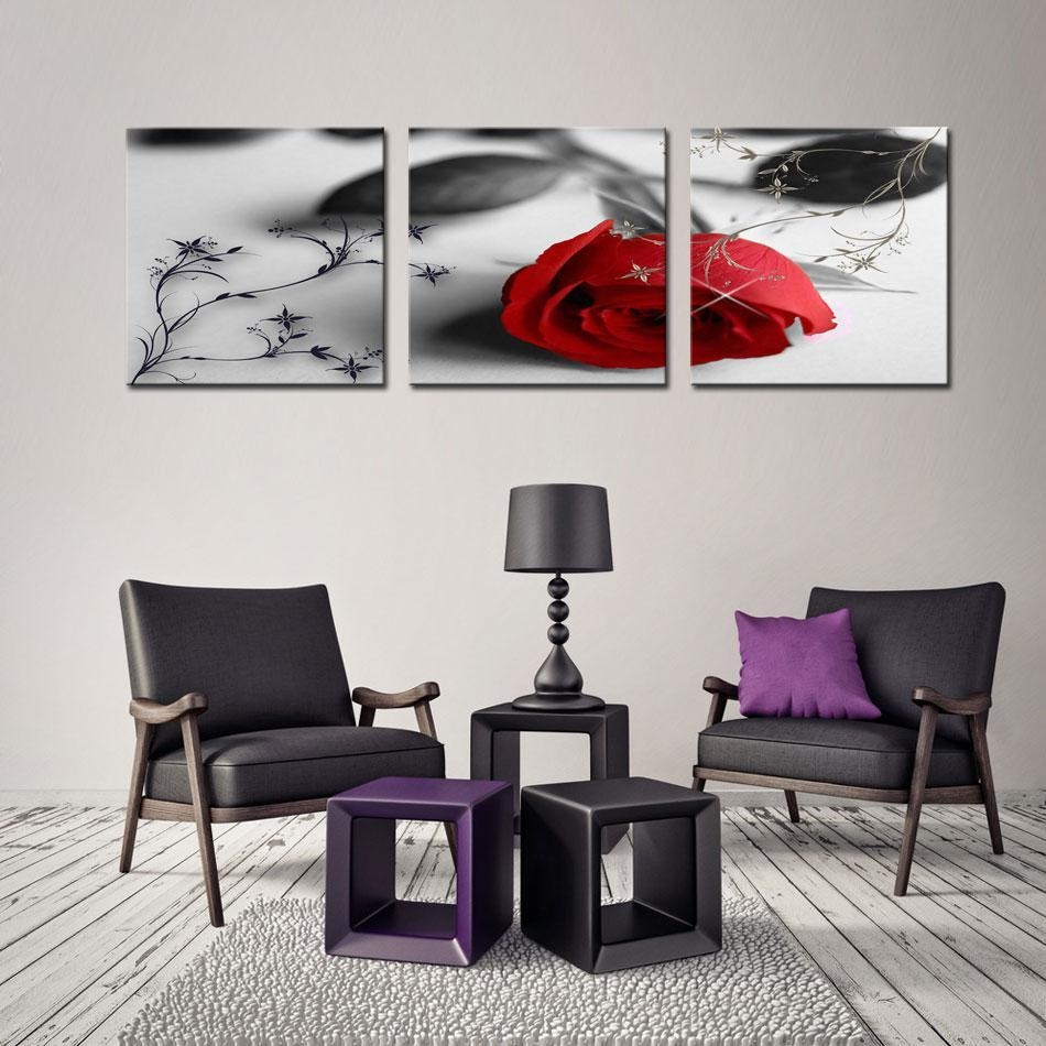 Buy Cheap Paintings For Big Save, Canvas Print Flower Wall Art Regarding Multi Piece Canvas Wall Art (Image 6 of 20)