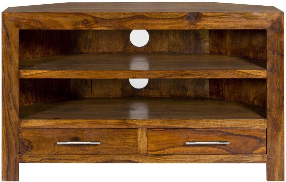 Buy Cuban Petite Corner Tv Cabinet Online – Cfs Uk Regarding Most Recent Dark Wood Corner Tv Stands (Image 10 of 20)