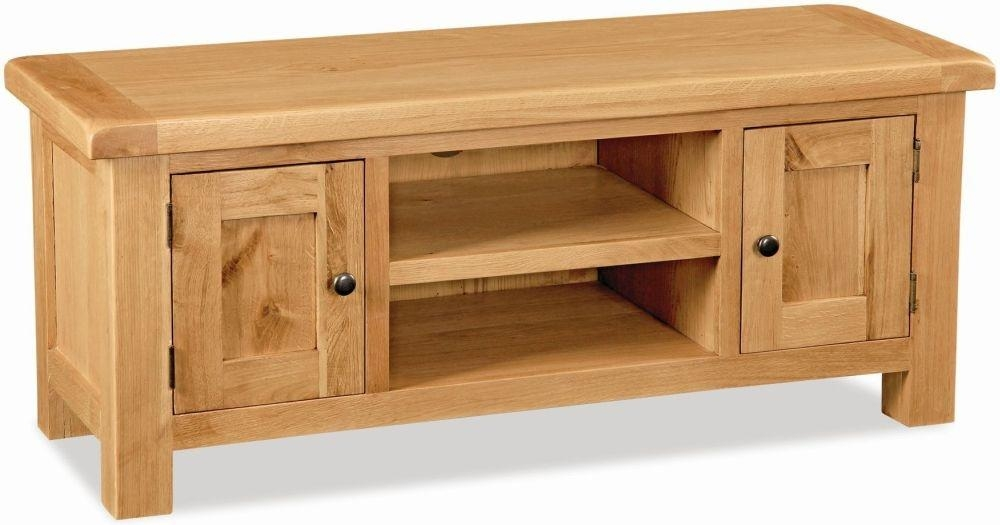 Buy Global Home Salisbury Oak Tv Unit - Large Online - Cfs Uk throughout Most Up-to-Date 150Cm Tv Unit