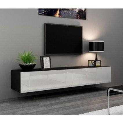 Buy J & M Furniture 17874 Tv Stand 045 In White High Gloss Throughout Newest Walnut And Black Gloss Tv Unit (View 5 of 20)