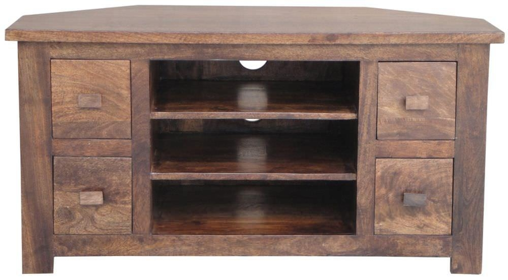 Buy Jaipur Furniture Kashmir Walnut Tv Units – Corner 4 Drawers With Regard To Best And Newest Walnut Tv Cabinet (Image 8 of 20)