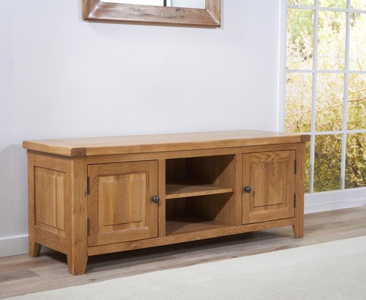 Buy Mark Harris York Solid Oak 150Cm Tv Unit Online – Cfs Uk With Most Current 150Cm Tv Unit (Image 4 of 20)