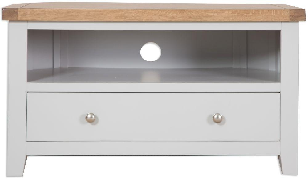 Buy Perth French Grey Tv Cabinet – Corner Online – Cfs Uk In Most Recently Released French Tv Cabinets (Image 3 of 20)