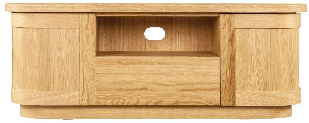Buy Sorrento Tv Stand, Clemence Richard Sorento Oak Tv Cabinet Throughout Latest Oak Tv Stands (Image 6 of 20)