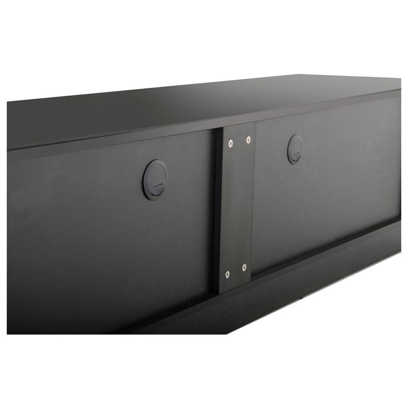 Buy The Modrest Caeden Contemporary Black High Gloss Tv Stand Pertaining To Latest Black Gloss Tv Cabinet (View 17 of 20)