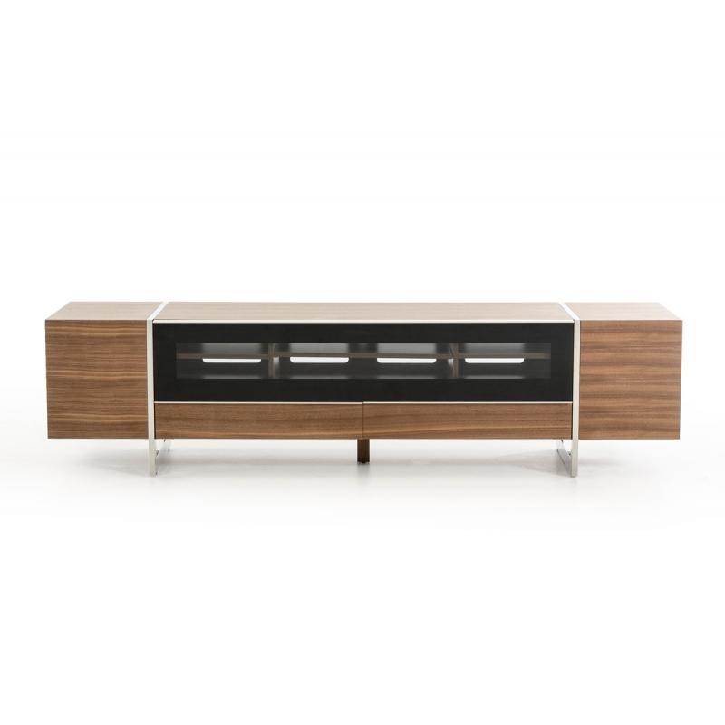 Buy The Modrest Lorena Modern Walnut Tv Standvig Furniture For Most Popular Walnut Tv Stands (Image 4 of 20)