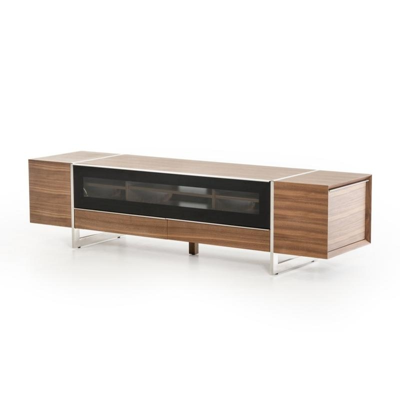 Buy The Modrest Lorena Modern Walnut Tv Standvig Furniture With 2018 Walnut Tv Stand (Image 6 of 20)