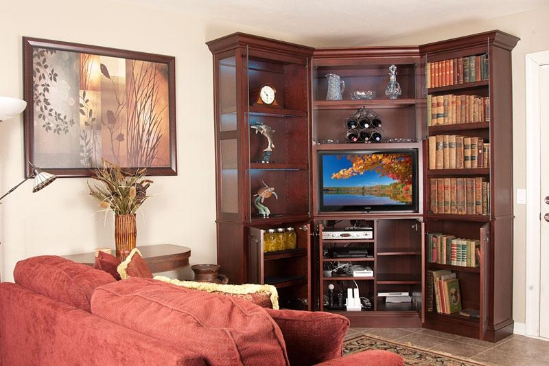 C 210 Wall Unit Is The Perfect Corner Unit For A Flat Panel Tv With Recent Corner Tv Cabinets For Flat Screens With Doors (View 17 of 20)