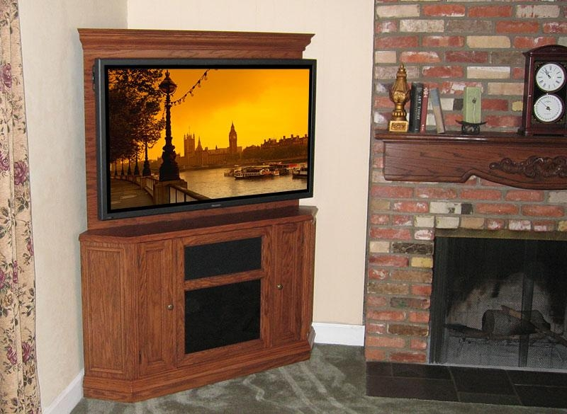 C 220 Corner Tv Stand With Back Wall (Image 5 of 20)