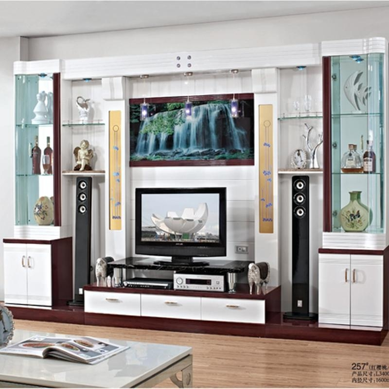 Cabinet Varnish Picture – More Detailed Picture About Gray Mirror For Newest Wall Display Units And Tv Cabinets (View 7 of 20)