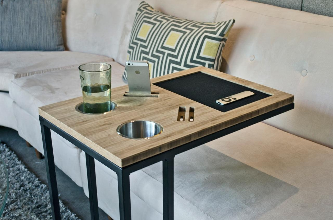 Caddy: You And Your Sofa's Best Friend – Design Milk Regarding Sofa Snack Tray Table (Image 3 of 21)