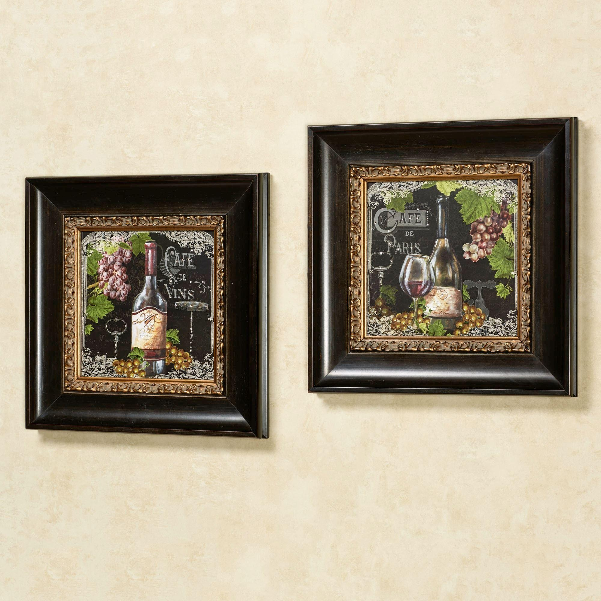 Cafe De Paris Wine Framed Wall Art Set In Parisian Wall Art (View 20 of 20)
