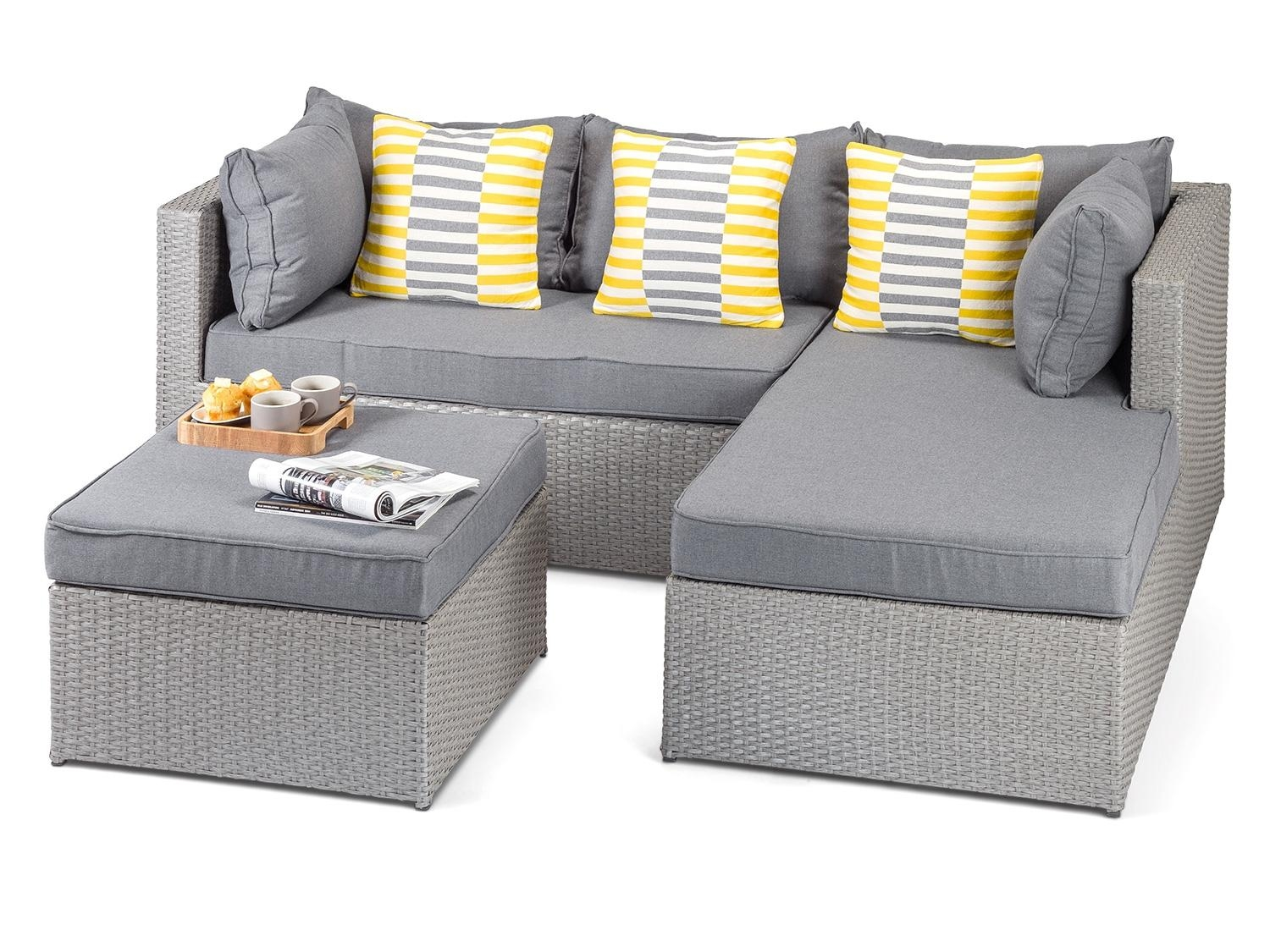 Calabria Grey Rattan Garden Sofa Throughout Modern Rattan Sofas (Image 4 of 23)