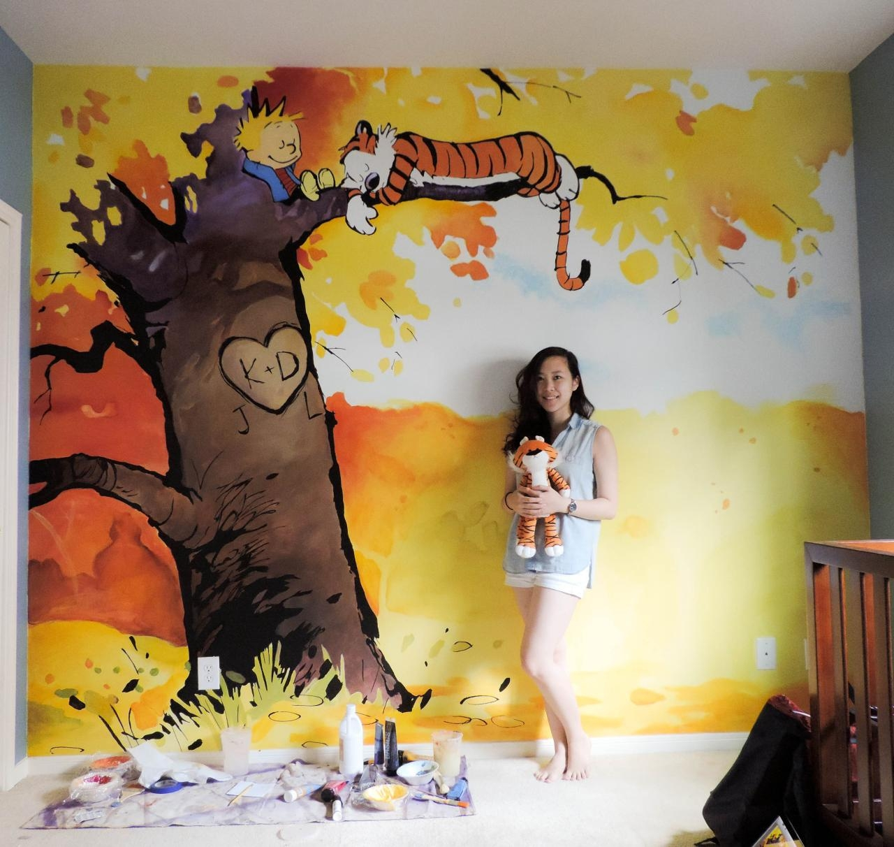 Calvin And Hobbes Nursery | Tumblr Regarding Calvin And Hobbes Wall Art (Image 3 of 20)