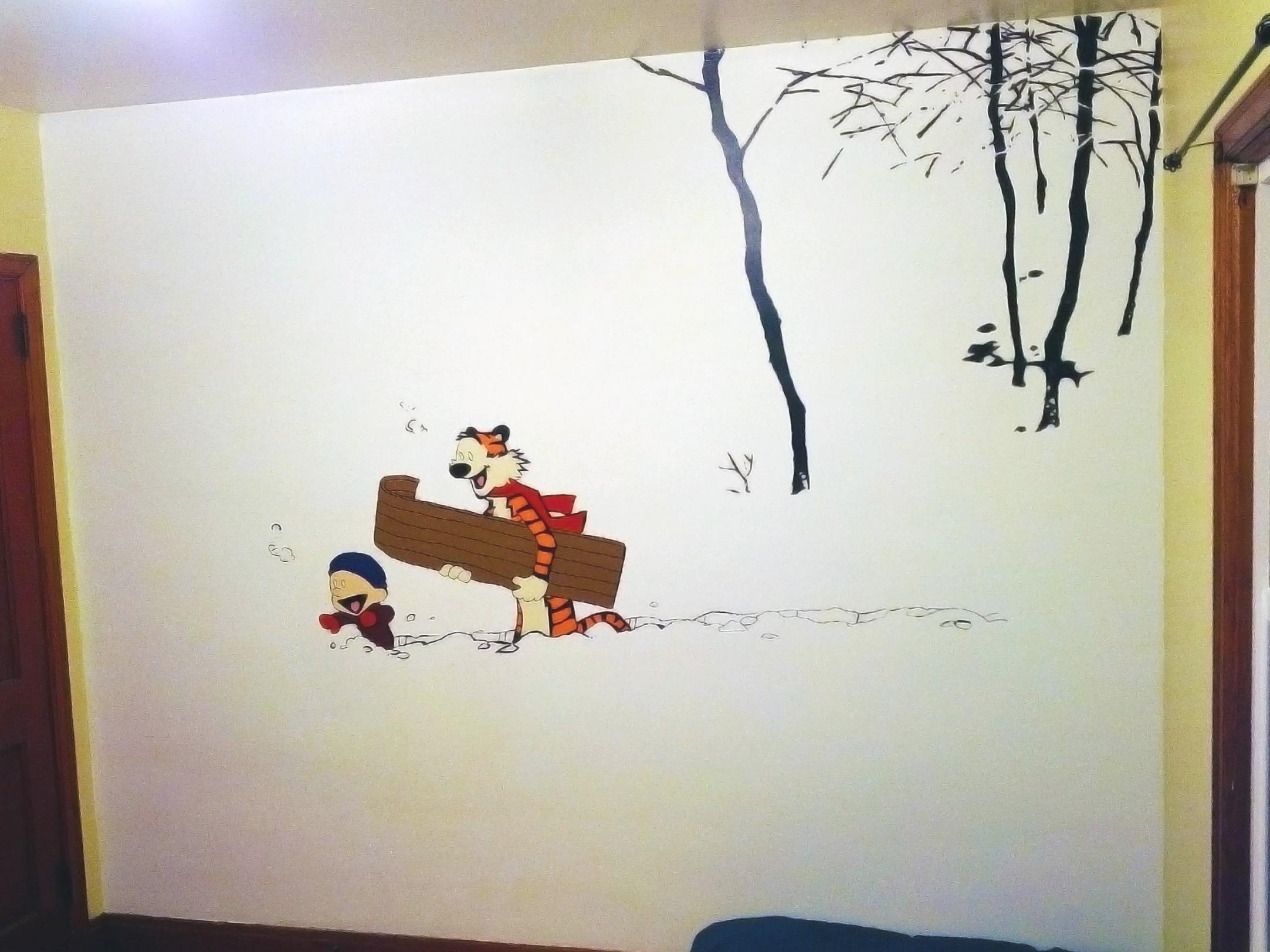 Calvin And Hobbes Wall Art – Takuice Pertaining To Calvin And In Calvin And Hobbes Wall Art (Image 7 of 20)
