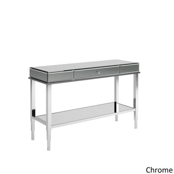 Camille Glam Mirrored Tv Stand Console Table With Drawer Intended For Best And Newest Mirrored Tv Stands (Image 3 of 20)
