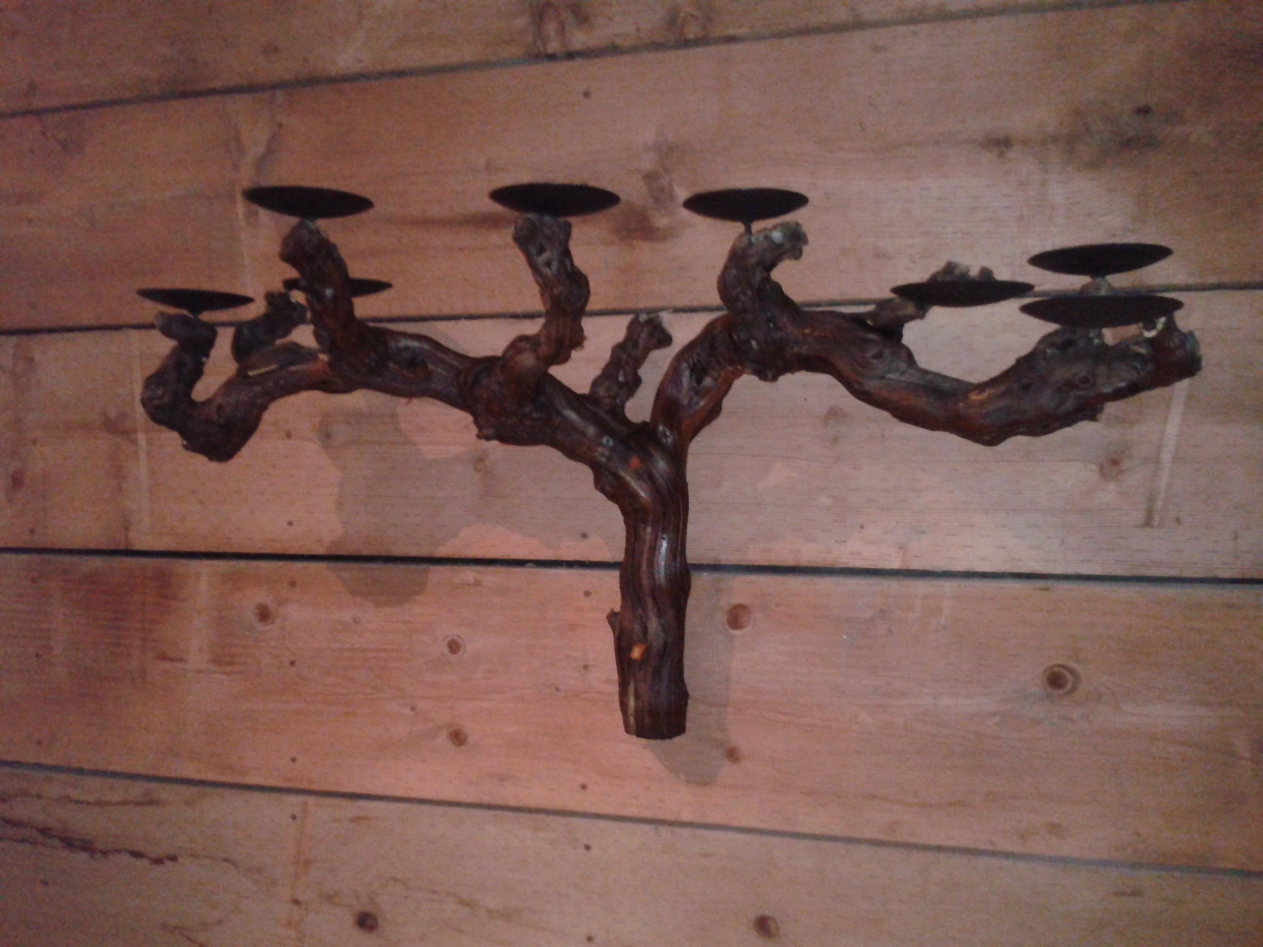 Candle Holder Free Standing | Winebarrelfurniture Within Grape Vine Metal Wall Art (View 19 of 20)