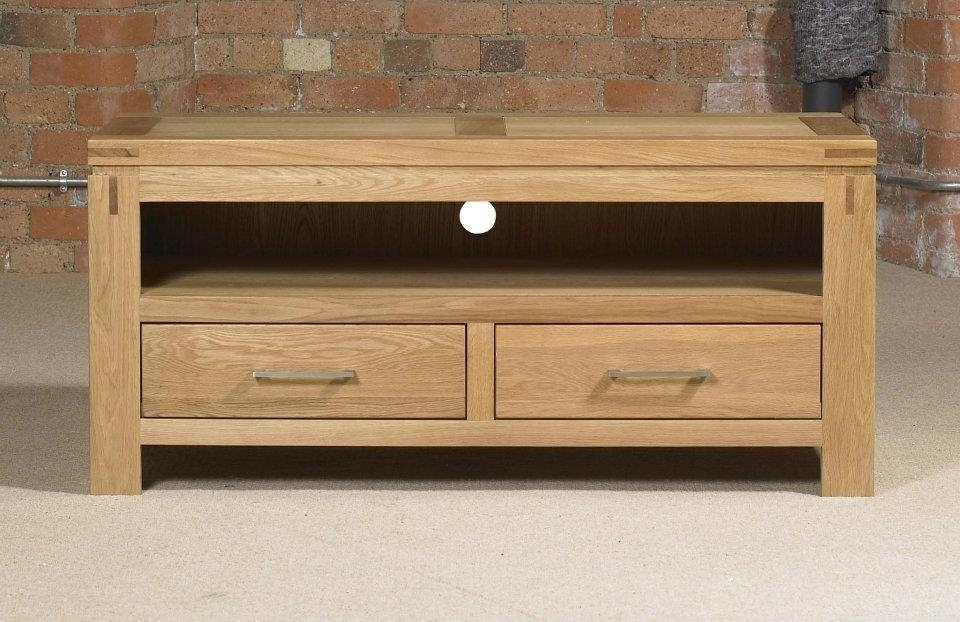 Canterbury Contemporary Oak Small Tv Unit | Oak Furniture Uk With Regard To Latest Small Oak Tv Cabinets (Image 7 of 20)