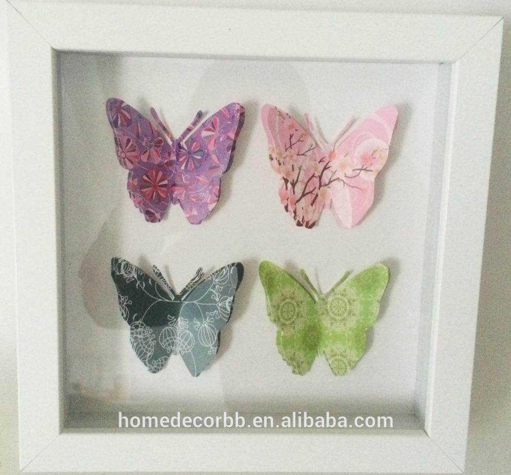Canvas Painting Butterfly, Canvas Painting Butterfly Suppliers And Throughout 3D Butterfly Framed Wall Art (View 9 of 20)
