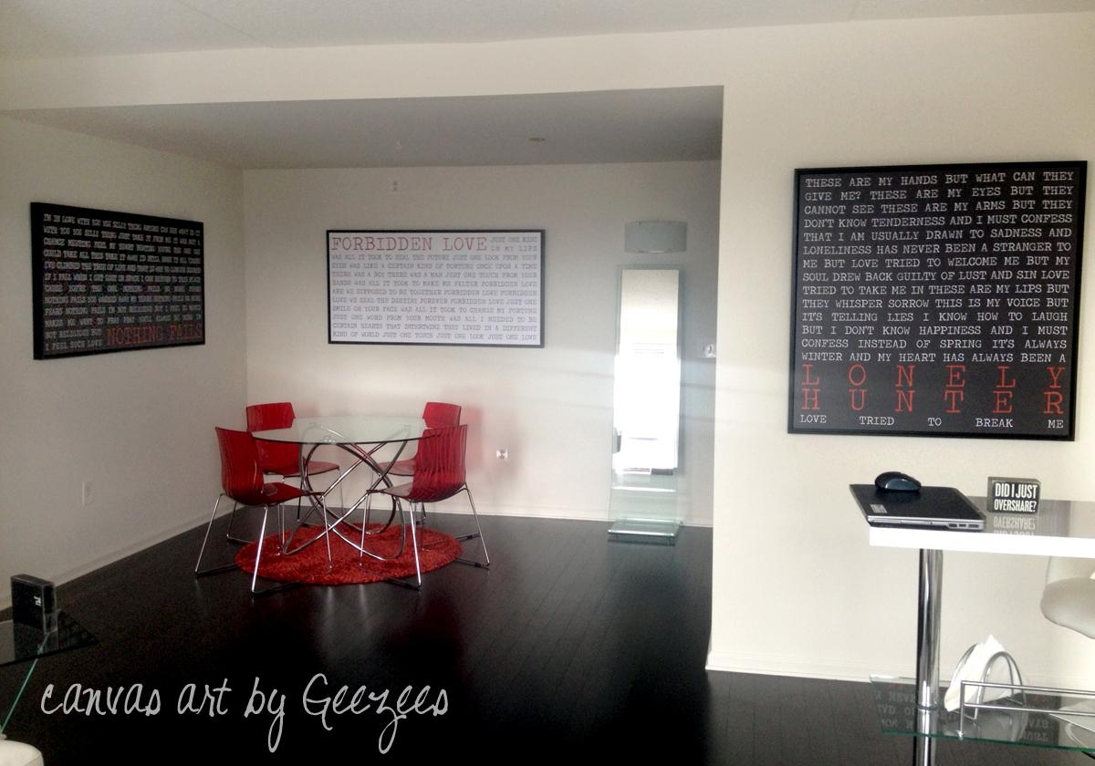 Canvas Wall Art Display Art Black Red White – Geezees Canvas Within Red And Black Canvas Wall Art (Image 10 of 20)