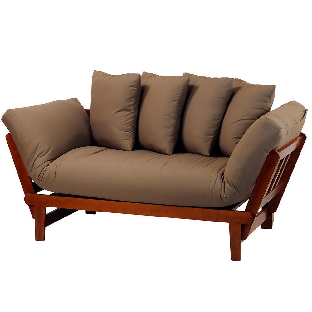 Casual Lounger Sofa Bed, Oak – Yu Shan Co Usa Ltd 411 75 – Sofas Inside Sofa Lounger Beds (Image 4 of 20)